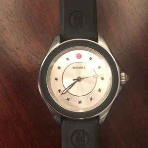 Michele Cape Silicone Ladies Watch